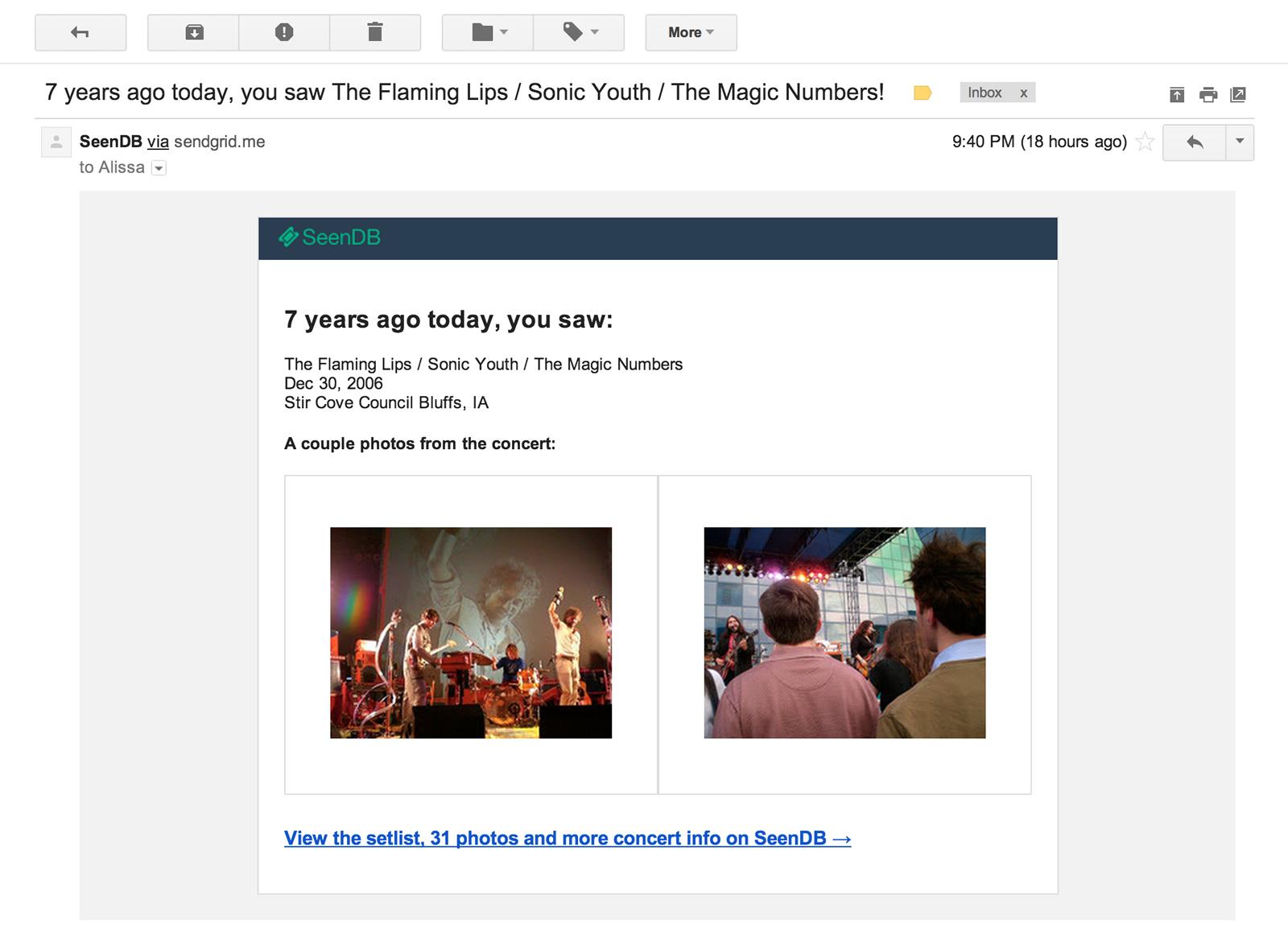 Flashback Emails U0026 More